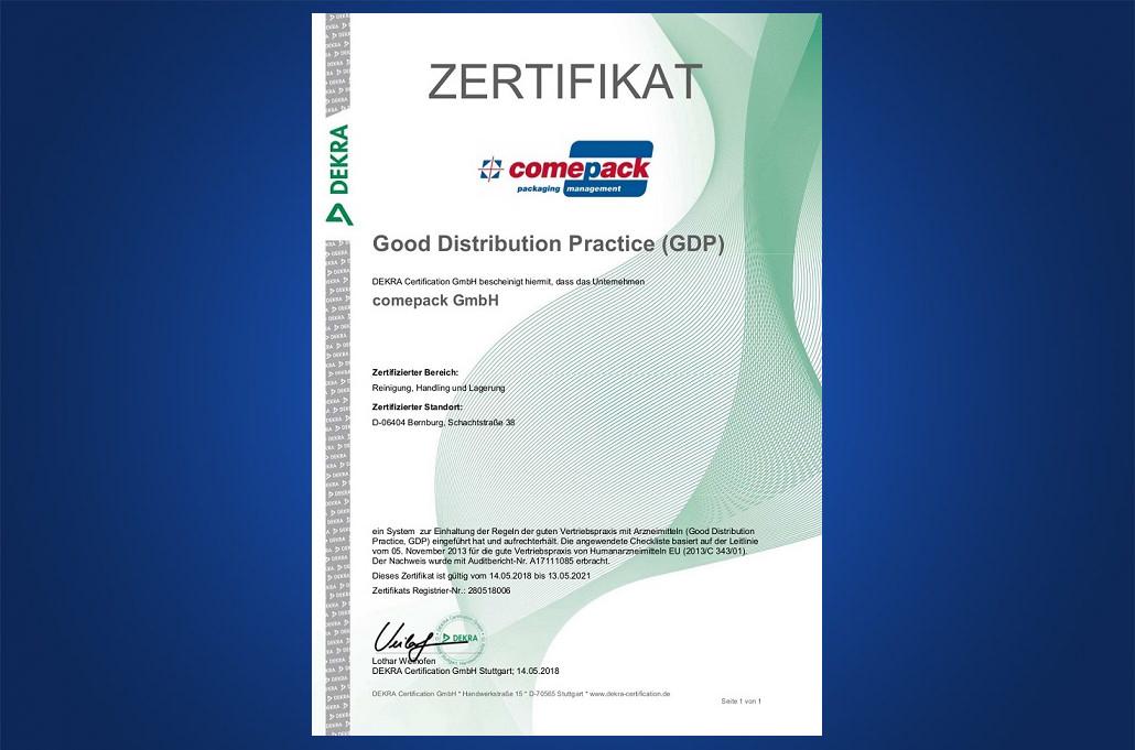 GDP Zertifikat
